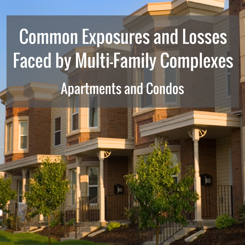 Common Exposures and Losses Faced by Multi-Family Complexes (Apartments and Condos)